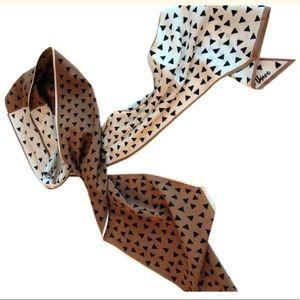 Vera Neumann Scarf, 100% Silk Tan Scarf